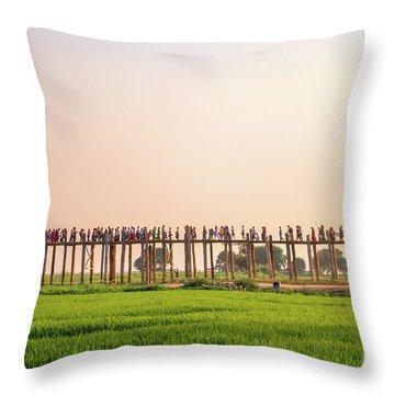 U Bein Bridge Throw Pillow