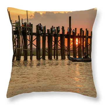 U-bein Bridge Throw Pillow by Werner Padarin