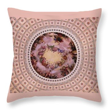 U S Capitol Dome Mural # 3 Throw Pillow