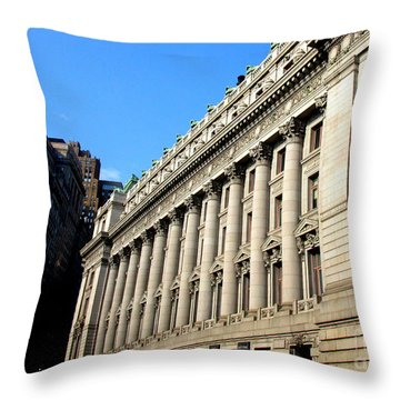 U S Custom House 1 Throw Pillow by Randall Weidner