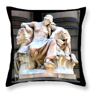 U S Custom House 3 Throw Pillow by Randall Weidner