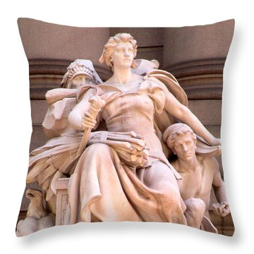 U S Custom House 4 Throw Pillow by Randall Weidner