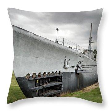 Throw Pillow featuring the photograph U. S. S. Batfish by James Barber