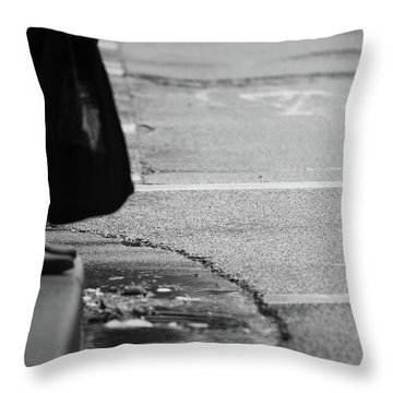 U Stopped Me On My Tracks  Throw Pillow by Empty Wall