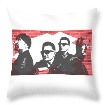 U2 Graffiti Tribute Throw Pillow by Dan Sproul