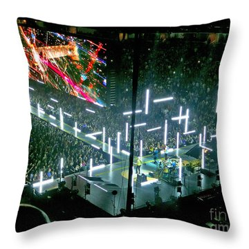 U2 Innocence And Experience Tour 2015 Opening At San Jose. 8 Throw Pillow