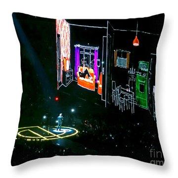 U2 Innocence And Experience Tour 2015 Opening At San Jose. 5 Throw Pillow