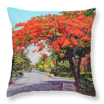 Ubs Poinciana Throw Pillow