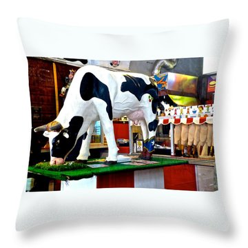 Udderly Unexpected Throw Pillow
