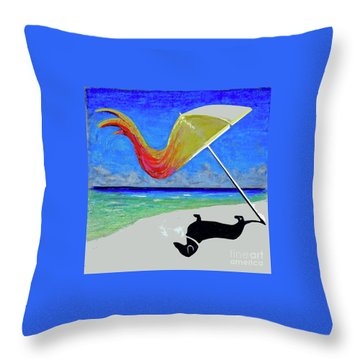 Throw Pillow featuring the painting Idhr-article #24 by Bill Thomson