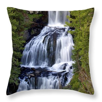 Udine Falls Throw Pillow by Marty Koch