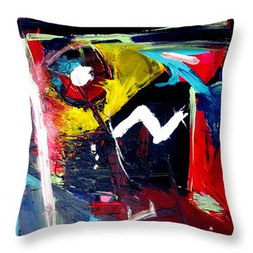 Throw Pillow featuring the painting Uga Art Grad by John Jr Gholson