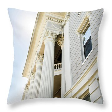 Throw Pillow featuring the photograph Uga Beauty by Parker Cunningham