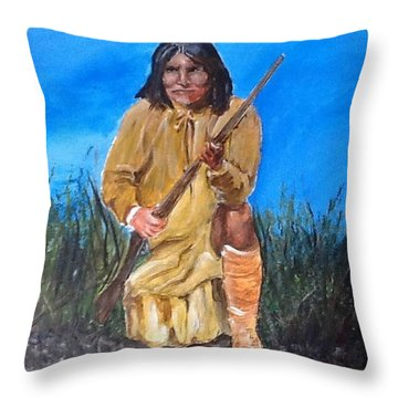 Geronimo Throw Pillow by Catherine Swerediuk