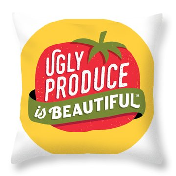 Ugly Produce Is Beautiful Throw Pillow