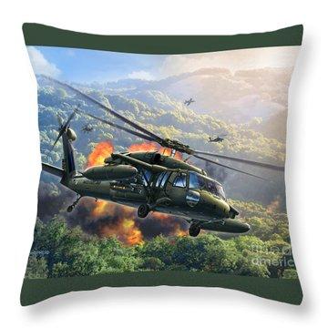 Uh-60 Blackhawk Throw Pillow