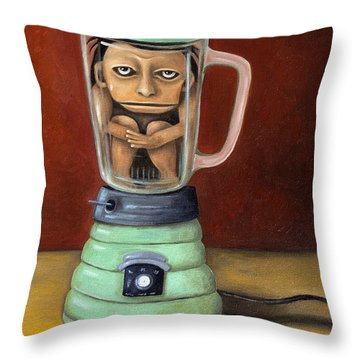 Uh Oh Throw Pillow by Leah Saulnier The Painting Maniac
