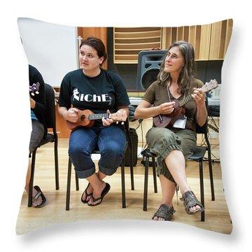 Ukelele Ensemble Throw Pillow