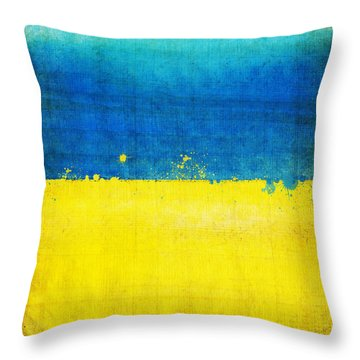 Ukraine Flag Throw Pillow