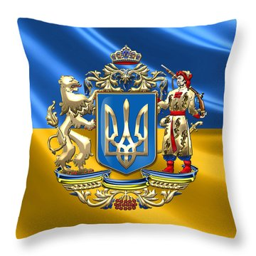 Ukraine - Greater Coat Of Arms  Throw Pillow