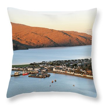 Throw Pillow featuring the photograph Ullapool Morning Light by Grant Glendinning