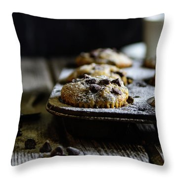 Ultimate Chocolate Chip Muffins Throw Pillow