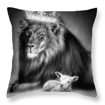 Lamb Of God Throw Pillows