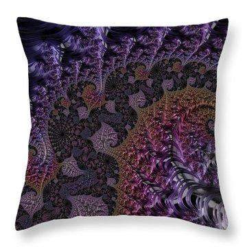 Ultra Leaf Spiral Throw Pillow