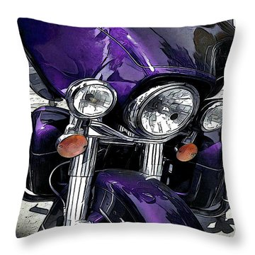 Ultra Purple Throw Pillow