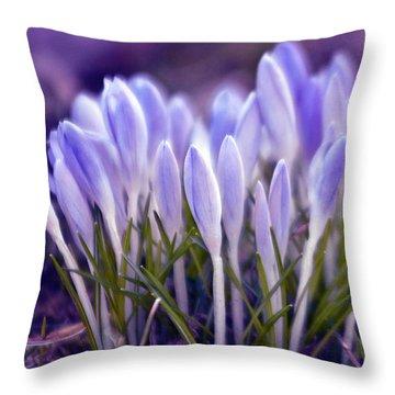 Ultra Violet Sound Throw Pillow