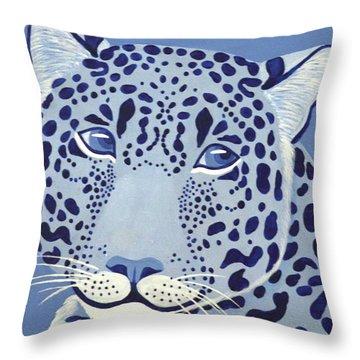 Ultramarine Jaguar Throw Pillow