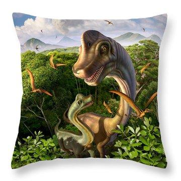 Ultrasaurus Throw Pillow by Jerry LoFaro