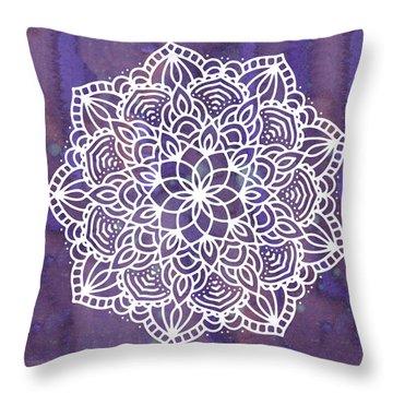 Ultraviolet Mandala Throw Pillow