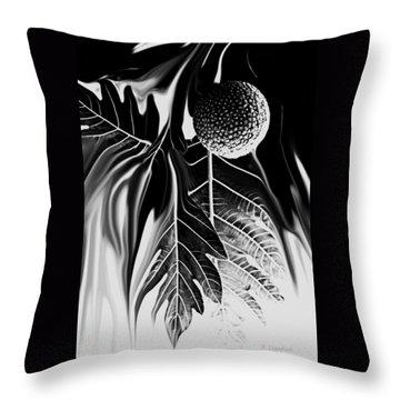Ulu - Breadfruit Abstract Throw Pillow by Kerri Ligatich