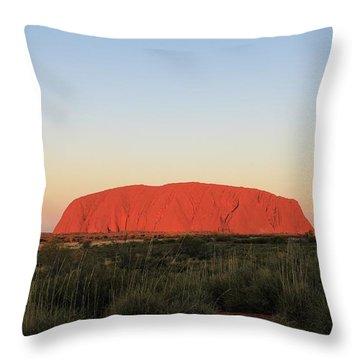 Uluru At Sunset Throw Pillow