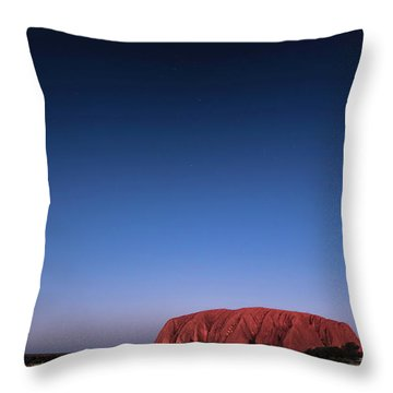 Throw Pillow featuring the photograph Uluru Starry Night by Chris Cousins