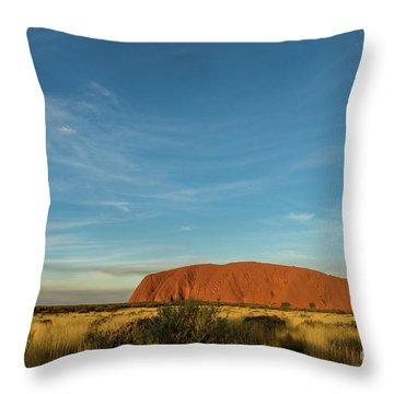 Throw Pillow featuring the photograph Uluru Sunset 01 by Werner Padarin