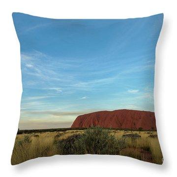 Throw Pillow featuring the photograph Uluru Sunset 02 by Werner Padarin