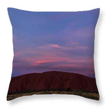 Throw Pillow featuring the photograph Uluru Sunset 04 by Werner Padarin