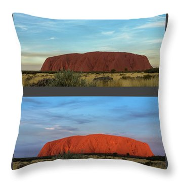 Throw Pillow featuring the photograph Uluru Sunset by Werner Padarin