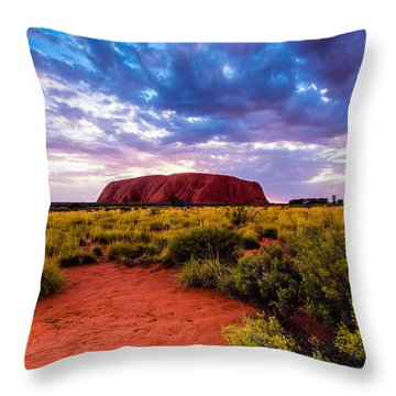 Throw Pillow featuring the photograph Uluru by Ulrich Schade
