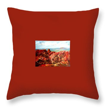 Uluru Viewed From Kata Tjuta Throw Pillow