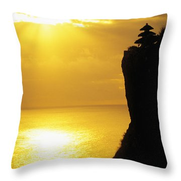 Uluwatu Temple Throw Pillow by Dana Edmunds - Printscapes