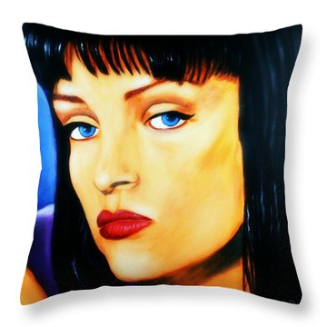 Uma Thurman In Pulp Fiction Throw Pillow