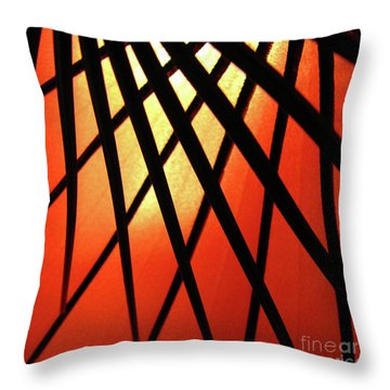 Umbrella 1 Throw Pillow by CML Brown