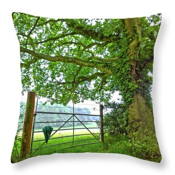Umbrella At The Ready Throw Pillow by Anne Kotan