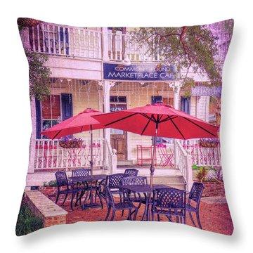 Umbrella Cafe Throw Pillow