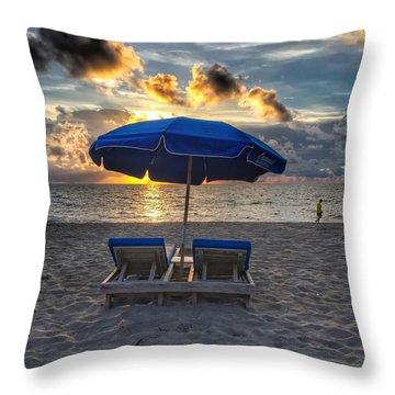 Umbrella For Two Throw Pillow