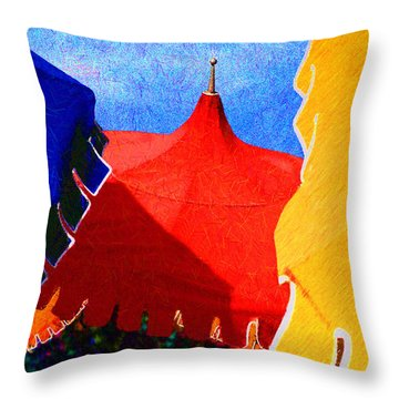 Umbrella Party Throw Pillow by Paul Wear
