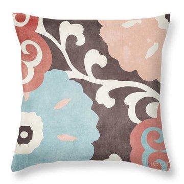 Umbrella Skies II Suzani Pattern Throw Pillow